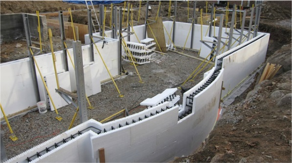 Pictures of icf insulated concrete home construction new Insulated block construction