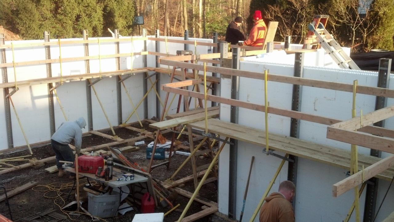 Pictures Of Icf Insulated Concrete Home Construction New Jersey
